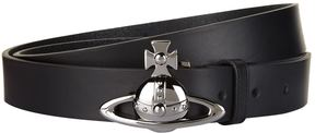 Vivienne Westwood Orb Buckle Leather Belt
