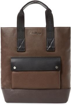 Salvatore Ferragamo Textured Tote Bag