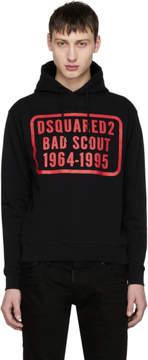 DSQUARED2 Black Soft Logo Hoodie