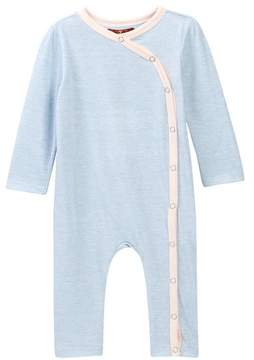 7 For All Mankind Two-Tone Coverall (Baby Girls)