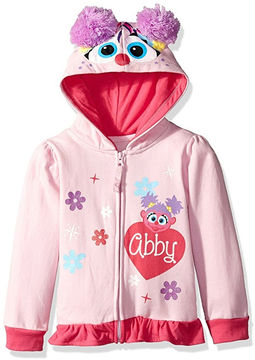 Asstd National Brand Sesame Street Toddler Girls Abby Costume Hoodie with Crystalline and Glitter Wings