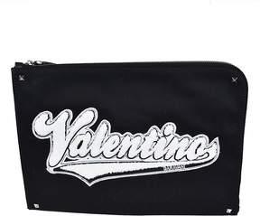 Valentino Sponge Logo Clutch