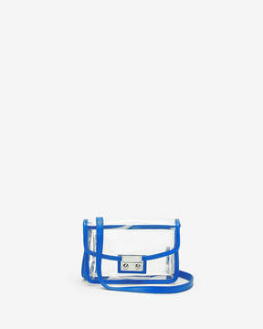 Express Blue Trim Clear Event Bag