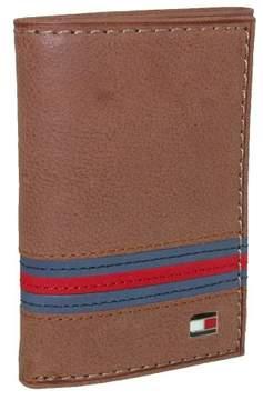 Tommy Hilfiger Men's Leather Yale Trifold Wallet, Tan