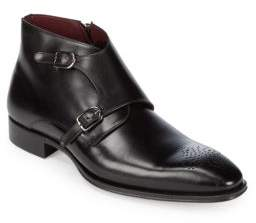Mezlan Rocca Leather Monk Strap Boots