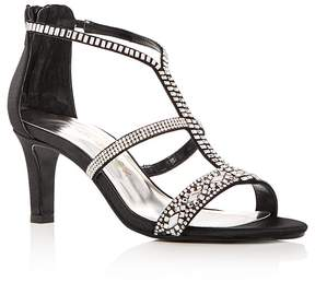 Caparros Women's Loretta Embellished Satin High-Heel Sandals