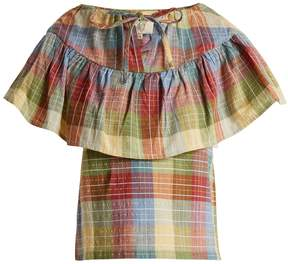 Ace&Jig Clifton checked cotton-blend top