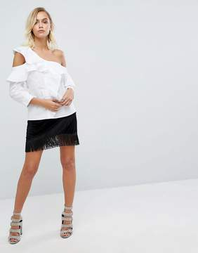 Fashion Union Mini Skirt With Fringe Hem Detail