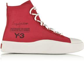 Y-3 Y 3 Red Stretch Bashyo Canvas High-top Women's Sneakers