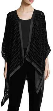 Eileen Fisher Striped Velvet Burnout Wrap
