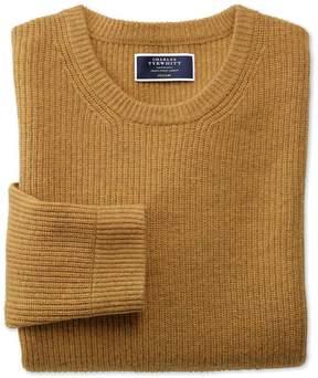 Charles Tyrwhitt Yellow Lambswool Rib Crew Neck Sweater Size XXL