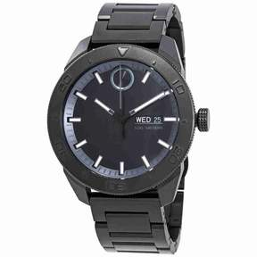 Movado Bold Black Dial Men's Stainless Steel Watch 3600512