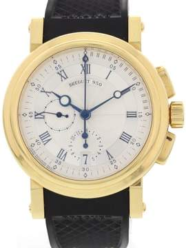 Breguet 950 Marine 5827 Chonograph 18K Yellow Gold Mens Watch