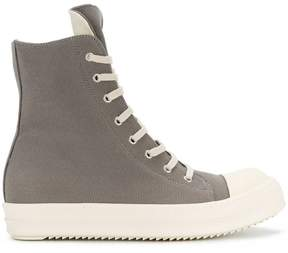 Rick Owens lace up hi-top sneakers