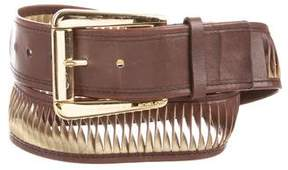 Michael Kors Metallic-Accented Leather Belt