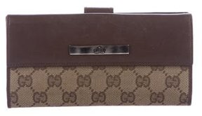 Gucci GG Canvas International Wallet - BROWN - STYLE