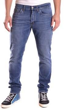 Dirk Bikkembergs Men's Blue Cotton Jeans.