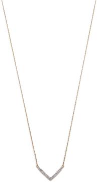 Adina 14k Gold Tiny Pave V Necklace