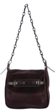 Marni Satin & Suede Shoulder Bag