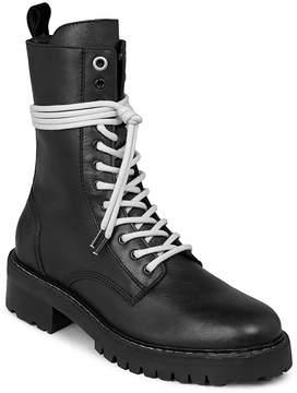 AllSaints Women's Cony Leather Combat Booties