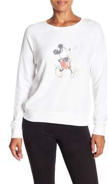 David Lerner Mickey Mouse Front Graphic Print Raglan Pullover