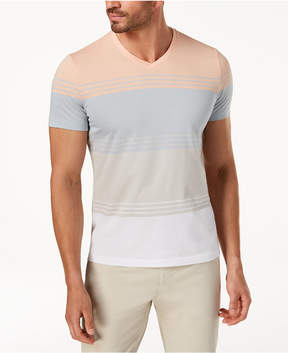 Alfani Men's Colorblocked Striped T-Shirt, Created for Macy's