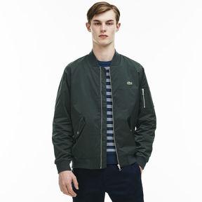 Lacoste Men's Textured Nylon Bomber Jacket