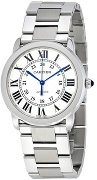Cartier Ronde Solo Silver Opaline Ladies Watch