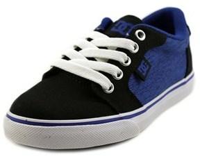 DC Anvil Tx Se Youth Round Toe Canvas Blue Skate Shoe.