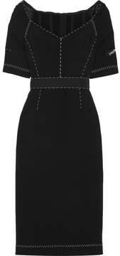 Dolce & Gabbana Cady Midi Dress - Black