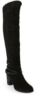 Madden-Girl Black Dutchy Knee High Boots
