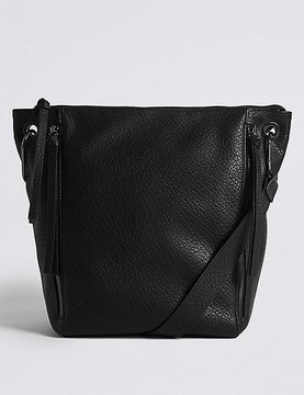 Marks and Spencer Faux Leather Messenger Bag