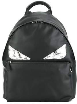 Fendi Men's Black Leather Backpack.