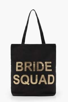 boohoo Bride Squad Shopper Bag