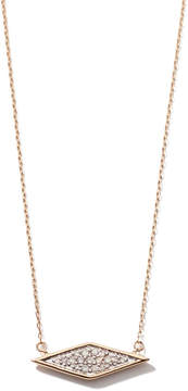 Adina Solid Pavé Diamond Necklace in Yellow Gold