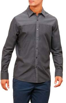 Kenneth Cole New York Reaction Kenneth Cole Two-Tone Colorblock Long-Sleeve Shirt - Men's