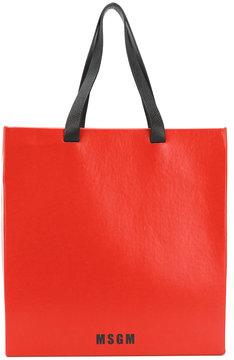 MSGM logo print shoulder bag