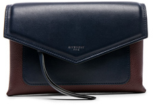 Givenchy Tri Color Duetto Crossbody Flap Bag in Blue,Red.