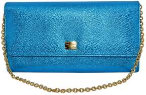 Dolce & Gabbana Sicily leather clutch bag - BLUE - STYLE