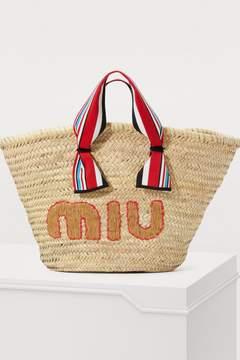 Miu Miu Straw beach bag