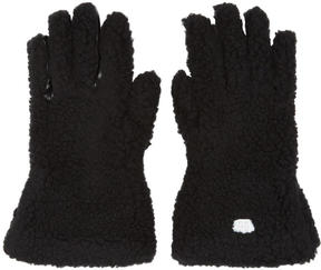 Stella McCartney Black Faux-Fur Gloves