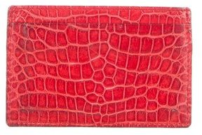Gucci Crimson Alligator Cardholder - RED - STYLE
