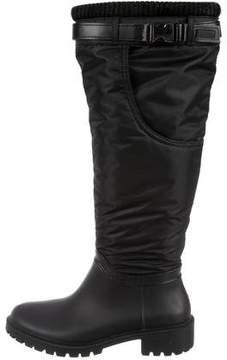 DKNY Nylon Round-Toe Boots