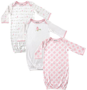 Luvable Friends Pink Birds Gown Set - Newborn