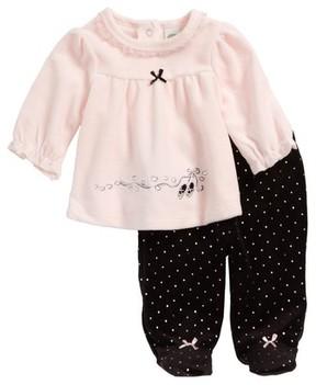 Little Me Infant Girl's Ballet Velour Tunic & Footie Pants Set