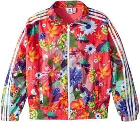 adidas Kids Floral Windbreaker Girl's Coat