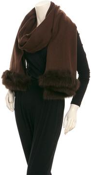 La Fiorentina Brown Wool Wrap