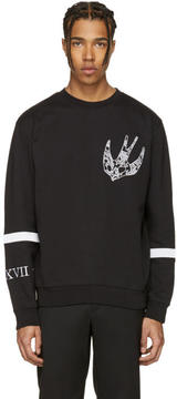 McQ Black Paisley Swallow Clean Pullover