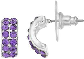 Dana Buchman Pave C-Hoop Earrings