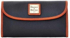 Dooney & Bourke Pebble Grain Continental Clutch Wallet - MARINE - STYLE